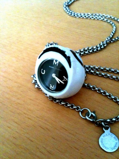 Skull Pendant Watch from Marc by Marc Jacobs