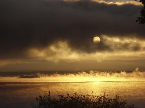 sunrise 10/17/09, Westport, NY