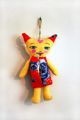 Tiina's fabric cat 1