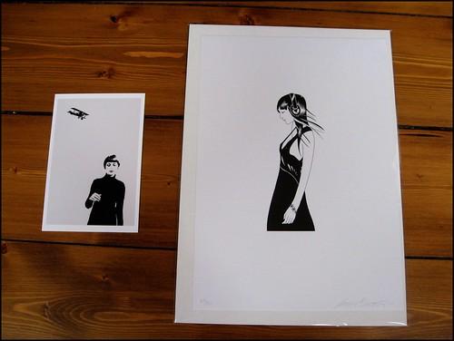 new print and postcard