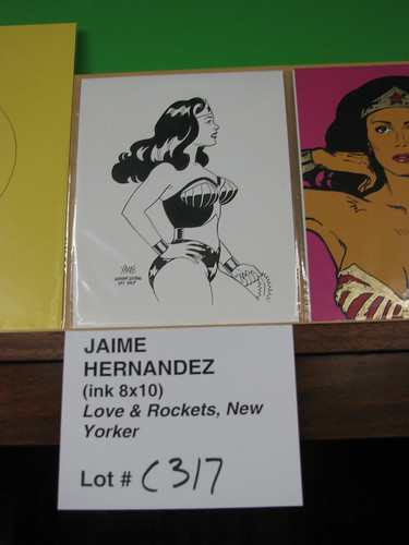 Jaime Hernandez artwork at Wonder Woman Day, Excalibur Books & Comics, Portland OR, Oct. 25, 2009