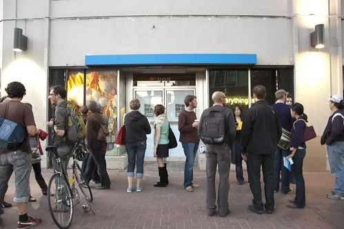 Art in Storefronts Launch. Photo by Genevieve Masse