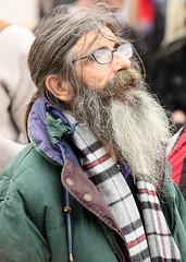One and Other-Wonderment (Feggy Art) Tags: old woman man london art look canon square beard wonder eos rebel grey one other kiss looking gray performance trafalgar trafalgarsquare 4th looks performanceart wonderment awe antony fourth plinth gormley xsi antonygormley bemused x2 fourthplinth oneandother g4p 450d canon450d feggy canonxsi victius feggyart