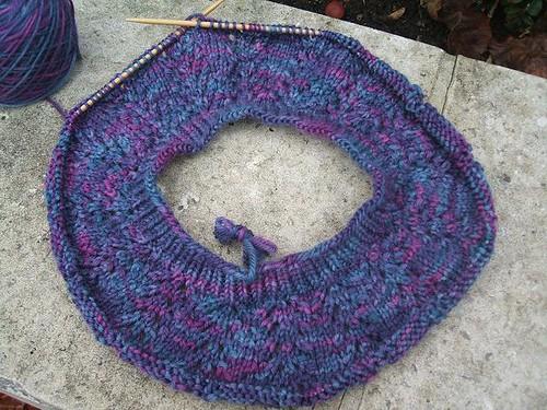 Purple lace hat