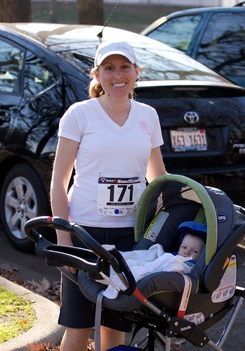 Melissa's first race since Will was born