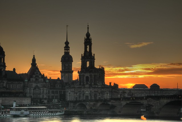 Sunset over Dresden