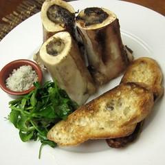 Roasted Beef Bone Marrow with Toast and Parsley Salad (SeppySills) Tags: beef bone parsley marrow seasalt internationalfood richdish