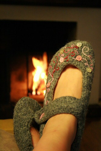 Slippers and cosy fire