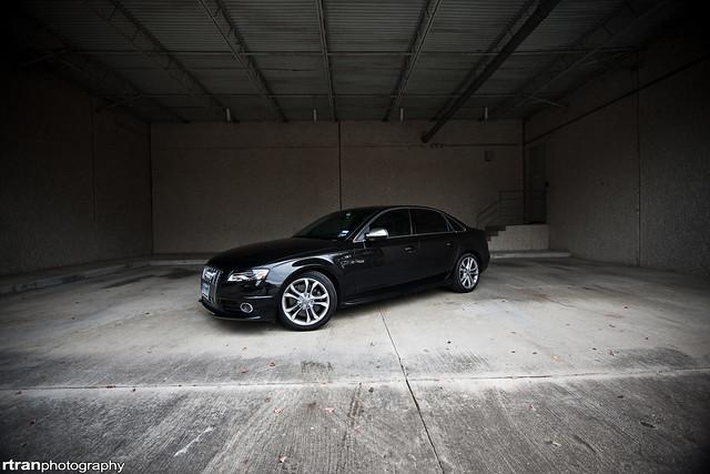 auto urban black car canon automobile texas stock houston comfort audi luxury 2009 s4 lightroom rtranphotography