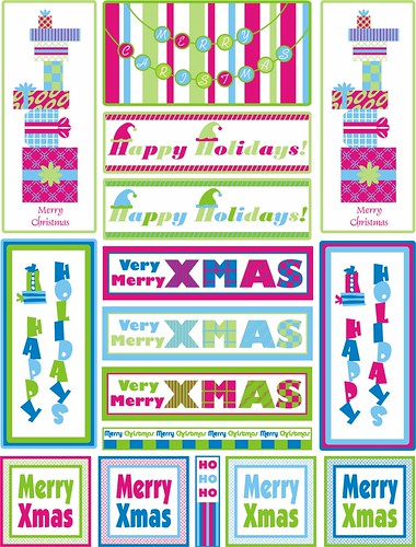 Christmas Stickers Bright