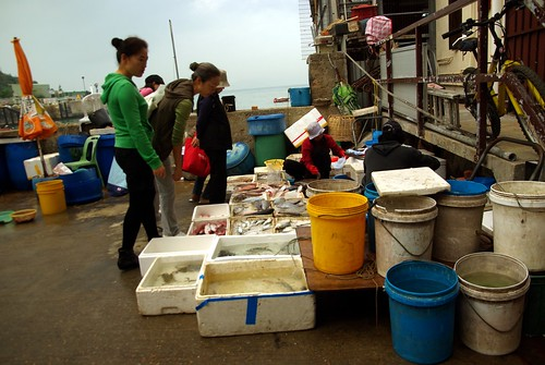 Wet market in Yung Shue Wan, Lamma Island