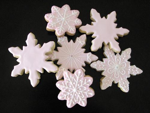 Pink Snowflake Sugar Cookies
