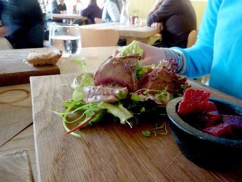 Pigeon salad