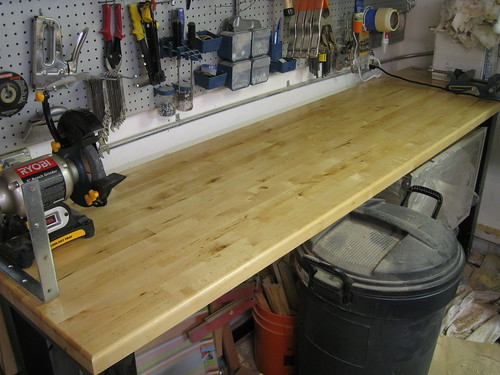 cleaned workbench