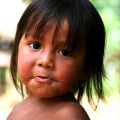 Embera Kids Are Adorable, Part One (Universal Stopping Point) Tags: cute toddler rainforest village expression jungle panama embera doeeyes chagresnationalpark emberapuru emberatribe emberachildren contrastbrightnesslevelswbcrop
