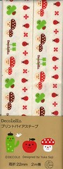 Mushroom and Ladybug Bias Tape (This and That From Japan) Tags: cute japanese designer sewing kawaii trim notion decole biastape japanimport decolello yukasaji