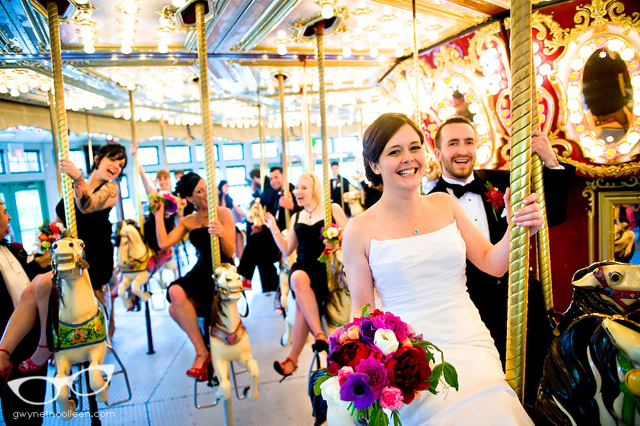 bride groom providence carousel bridal party