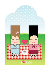 St. Valentine Day - Girls (Eloole) Tags: paper toy diy card stvalentine