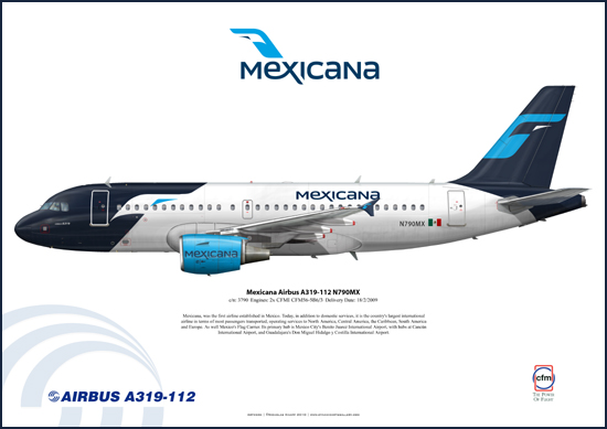 Mexicana New Livery Airbus A319-112 N790MX