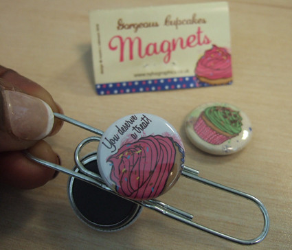 Cupcake Magnets