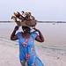 A handicraft seller at Lac Rose, Senegal