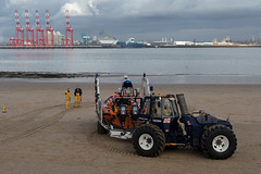 Driving Test... (The Crewe Chronicler) Tags: rnli lifeboat mersey rivermersey tractor rib boat liverpool2 liverpool newbrighton sea estuary canon canon7dmarkii wirral thewirral
