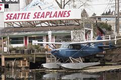 N8644K Stinson 108-1 Voyager Seattle Seaplanes Kenmore Air Harbor Seaplane Base KKEH 28.01-17 (rjonsen) Tags: seaplane floating airplane aircraft flying plane sea union lake seattle