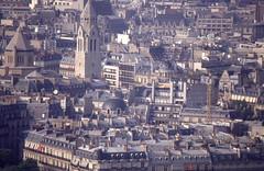 Blicke vom Eiffelturm 1992 (fotoculus) Tags: frankreich francia france lafrance paris paris1992 wochenendbusfahrt eiffelturm