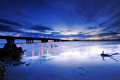 () Tags: blue sunset dusk taiwan tainan   nightfall anping  1424 28g d700