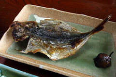Grilled fish (Japanese jack mackerel) (DigiPub) Tags: food fish breakfast onsale gettyimages  yugawara umeboshi        carangidae