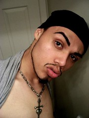 Don't Mess wit Me Nigga! (SelenaVonTeese) Tags: gay gangster lips mexican latino gangsta chicano cholo frankangel