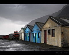 Tristan Fisheries... (Chantal Steyn) Tags: ocean house mountain colour photoshop island boat store fishing nikon storage explore tristandacunha d300 cs4 nohdr omot 1685mm