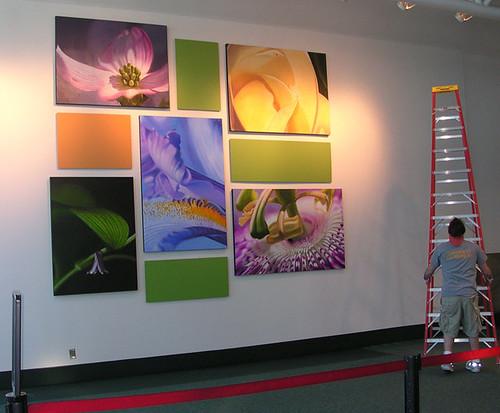 Nashville International Airport- Camille Engel Oil Painting Installation-4