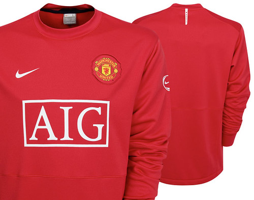 New 2009-2010 Manchester United Light Weight Training Top - Long Sleeved - Red