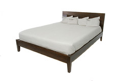 Simple Brown Platform Bed