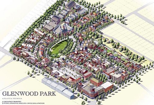 Dover Kohl's vision for the completed community (courtesy of Dover Kohl & Partners)