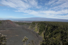 Kilauea Iki Crater and Mauna Loa Photo