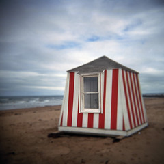 Beach Hut (LowerDarnley) Tags: beach holga hut princeedwardisland pei 120s northrustico autaut