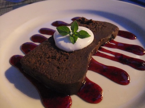 Flourless Chocolate Cake at the Inn at Cedar Falls
