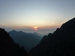 A Campu di Vetta : coucher de soleil sur le ravin principal
