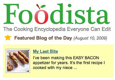 Foodista Blog of the Day, MyLastBite.com