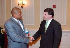 Senator Peters and Greg Holmes