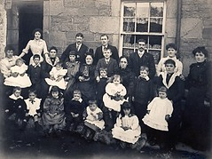 "The Ramsay Family, ""Reedmakar's Close"", Forfar, circa 1900 (ronramstew) Tags: old family history vintage reeds scotland angus victorian cams business 1900 forfar tayside ladders 1900s manufacture ramsay manufacturing westhighstreet reedmakers johanncochraneramsay ramsayladders bobramsay"