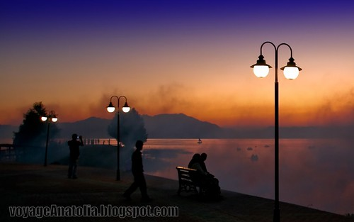 Sunset at Lake Beysehir by voyageAnatolia.blogspot.com