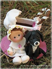 cake topper - Victoria's baptism (marytempesta) Tags: ooak polymerclay fimo figurines caketoppers ooakdolls weddingcaketoppers