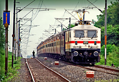 Rajdhani Express (Saqib Karori - TucsonRailfan) Tags: train bangalore tracks karori nagpur indianrailways superfast saqib irfca wap7 sbcrajdhani