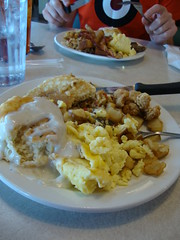 Shoney's breakfast buffet, for lunch
