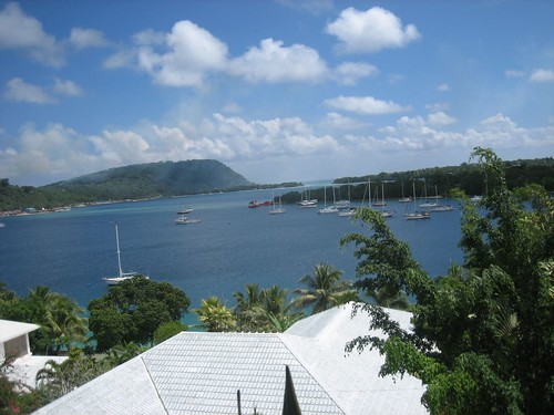 Port Vila mooring field (Sabbatical III is visible)