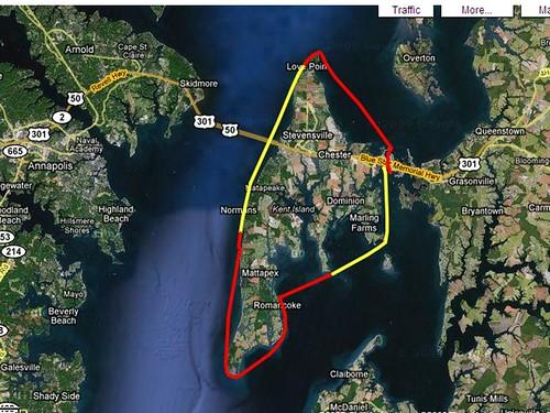 Kent Island GPS Track