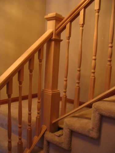 Shoe rail on a carpeted stair system